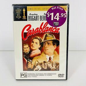 Casablanca (DVD, 1942) Humphrey Bogart New & Sealed Region 4 Free Postage