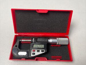 "Starrett 0-1"" Outside Digital Micrometer ~ No. 734XFL ~ Electronic ~ CASE"