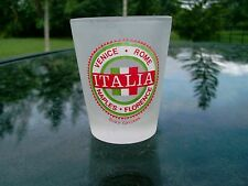 """BUSCH GARDENS  ITALIA  SHOT GLASS FROSTED 2.5"""" SEE PHOTOS"""