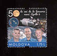 Moldova 2019 Space Apollo 9 1v** MNH personalized stamp