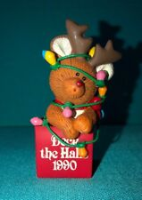'90 Deck The Halls Bear Reindeer in Christmas Lights Decorations Ornament Summit