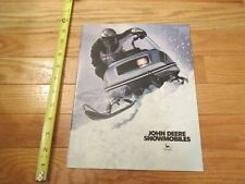 John Deere Snowmobile 1981 Vintage Dealer sales brochure