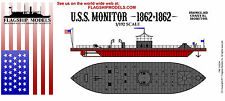 FLAGSHIP MODELS 1/192 Scale USS Monitor (10.5 inches long) Union Ironclad