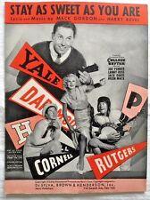 1934 Sheet Music Ivy League Yale Dartmouth Harvard Cornell Rutgers Penn Football