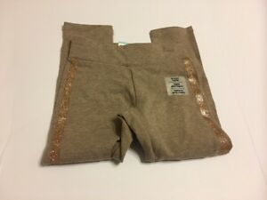 Old Navy Leggings Full Length Kid Girls Size XS 5 Glitter Brown