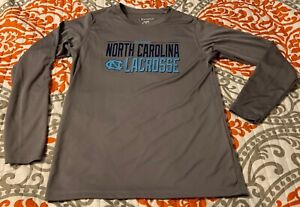 YOUTH BOY'S NCAA NORTH CAROLINA TARHEELS LACROSSE SHIRT-MED (7-8)-CHAMPION-EUC!