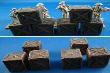 Unpainted Wooden Boxes for Wargaming Scernery 28mm. Fit well  1.35, 1.32 scale