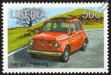 1957-1977 FIAT 500 Cinquecento Mint Automobile Car Stamp (1998 Liberia)