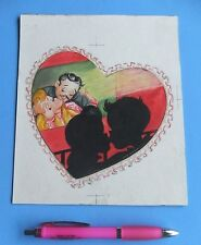 Norcross Greeting Card Art Painting, One-of-a-Kind- Valentines - Love - Lovers