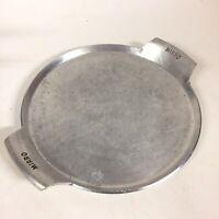"Mirro Thick Aluminum Serving Tray Vintage Round 11.5"" Handles 3 Feet"