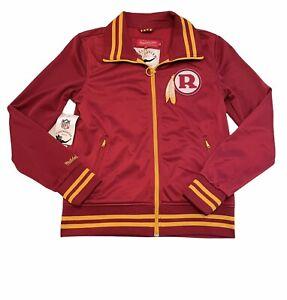 Mitchell & Ness Womens Washington Redskins Throwback Track Jacket Retro Large L