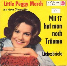 "7"" Little Peggy March – Mit 17 hat man noch Träume / Gelbes Alternativ-Cover"