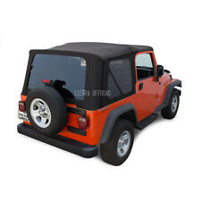 Jeep Wrangler TJ Soft Top, 2003-2006, Tinted Windows, Black Sailcloth
