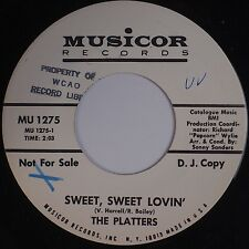 THE PLATTERS: Sweet Sweet Lovin' USA Northern Soul DJ PROMO Musicor 45 NM-