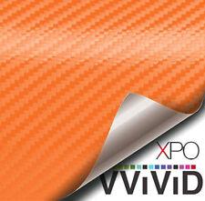 "Vvivid Orange carbon fiber 3"" x 4"" sample car wrap film"