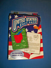 United States Fact Pack 50 Flash Cards Home School Geography Capitals 7 & Up
