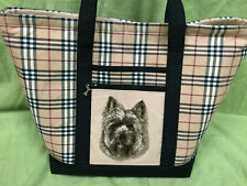 Beautiful Custom Embroidered Cairn Terrier Tote