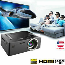 1080P TFT LCD Mini Portable Home Projector AV HDMI USB Proyector Multimedia