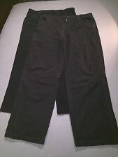 "2 Pairs MENS TROUSERS / PANTS - Size 36"" / 90cm - Grey & Black"