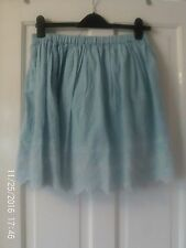 BLUE SHORT SKIRT BY RIVER ISLAND, SIZE 12