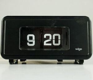 Wigo Alarm Klappzahlen Wecker Uhr Modell Type SD2 schwarz Design 70er flip clock