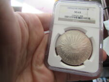 1885 GO RR MEXICO 8 REALES NGC MS63