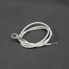 """10 Pack 24"""" White 20AWG Wire Connector Terminal Extension"""