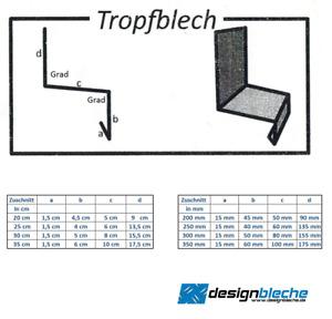200 cm Tropfbleche Kantblech Dachbleche Winkelblech Dachprofil Tropfkante 2000mm