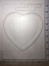 HEART POUR BOX BOTTOM CLEAR PLASTIC CHOCOLATE CANDY MOLD V193