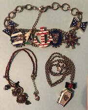 lot of Betsey Johnson jewelry OWL Ivy League Nautical statement necklace & more!