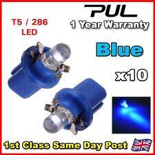 10x B8.5D T5 Gauge LED Speedo Wedge Dashboard Dash Car Light Bulbs Blue 12v UK