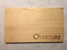 1 Rare Wine Wood Panel Overture Napa California Vintage CRATE BOX SIDE 8/18 289