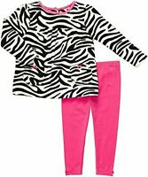 NWT CARTER'S GIRLS 2PC FLEECE ZEBRA TOP W/POCKETS PINK LEGGINGS  SIZE 6M