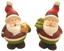 Small Red Santa - Two pack (Star, Tree)