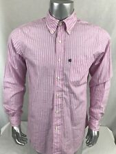 Brooks Brothers 346 Original Polo Mens Casual Slim Fit Size M Pink White Striped