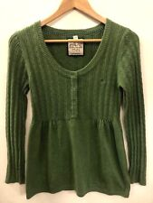 ESPRIT Large Green Long Sleeve Scoop Neck Cotton Sweater