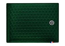 ST Dupont Fire Head Green Soft Diamond Leather Wallet ST180093