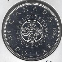 1964 Canada Charlottetown-Quebec Dollar Coin PL