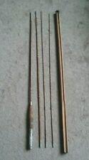 Vintage Unmarked 4 Piece Split Bamboo Fly Rod 9' W/Holder