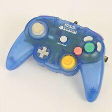 HORI PAD CUBE Controller Clear Blue Nintendo Game Cube 0534