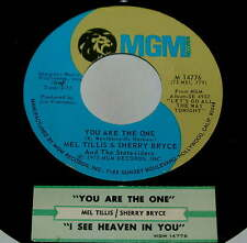 Mel Tillis Sherry Bryce 45 You Are The One / I See Heaven In You  w/ts