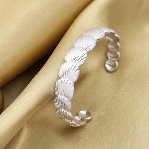 Sea Conch Shell Metal Open Bracelet Bangle Cuff Beach Ocean Vintage Boho Gift