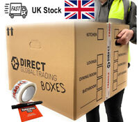 10 Strong Extra Large Cardboard Storage Packing Moving House Boxes Double Walled