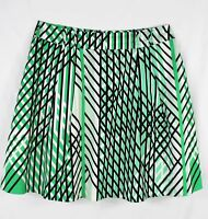 Review green geometric print skirt - 12