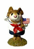"Wee Forest Folk: ""Stars & Stripes"" Flag, Collectible, 1990, M-168"
