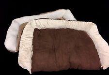 Large Pet Dog Puppy Sofa Bed Mat Cat Mattress Foldable Rug Faux Fur 80cm x 1m