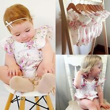 AU Infant Baby Girls Bodysuit Floral Sleeveless Romper Jumpsuit Outfits Clothes