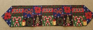 Tapestry Table Runner 35 x 12 inches holiday season runner  multicolor