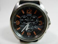 Citizen Eco Drive WR200 Titanium Military Style Chronograph Solar Wrist Watch