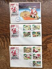 Commonwealth Of Dominica Set Of Three 1981 Christmas First Day Covers